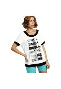 Camiseta Energia Com Estampa Off-White