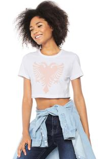 Camiseta Cropped Cavalera Águia Branca