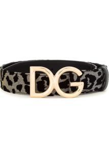 Dolce & Gabbana Cinto Com Padronagem - Preto