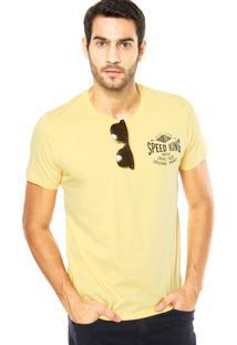 Camiseta Colcci Speed King Amarela