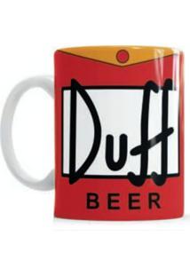 Caneca S De Cerâmica Sude Duff Beer Simpsons Vermelha