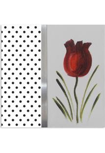 Quadro Tulipa Uniart Vermelho 30X30Cm