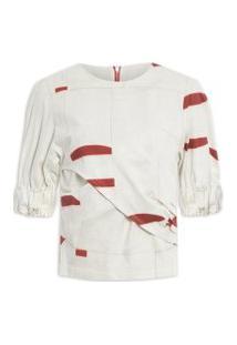 Blusa Feminina Cruz Estampada - Off White