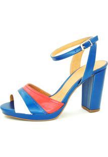 Sandália Infinity Shoes Meia Pata Multicolorido