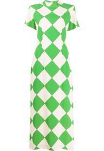 Rowen Rose Vestido Longo Com Estampa - Verde