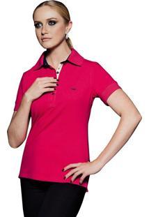 bbadaa4493 ... Camisa Pólo Vermelha Detalhes Florais Principessa Marion