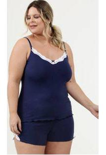 Pijama Feminino Renda Plus Size Demillus