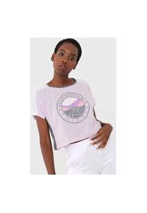 Camiseta Tricats Above Montains Lilás