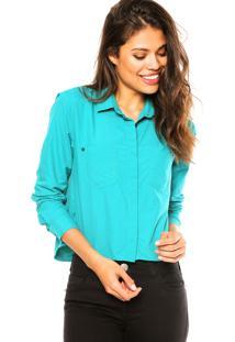 Camisa Manga Longa Calvin Klein Jeans Bolsos Verde
