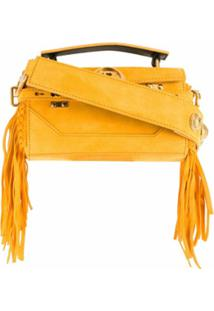 Balmain Bolsa Tiracolo Bbuzz Baguette Com Franjas - Amarelo