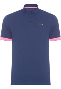 Polo Masculina Ckj Termocolante Logo - Azul