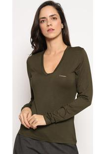 Blusa Com Tag - Verde Escuro - Sommersommer