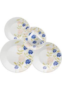 Aparelho De Jantar E Chã¡ 30 Peã§As Actual Azul Perfeito - Multicolorido - Dafiti