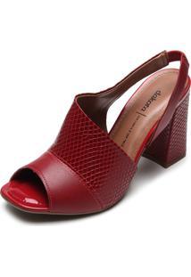 Sandália Dakota Textura Vermelha