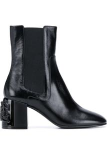 Casadei Ankle Boot C-Chain - Preto
