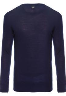 Sweater Masculino Crew Neck Merino - Azul