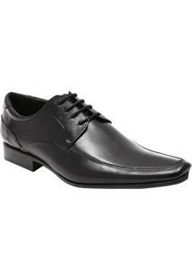 Sapato Social Slim Em Couro Com Recortes & Pespontos- Prcns