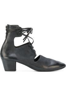Marsèll Ankle Boot Com Recortes - Preto
