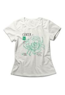 Camiseta Feminina Signo Câncer Off-White