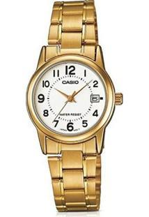 Relógio Feminino Casio Collection - Unissex-Dourado