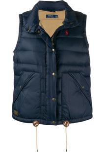 Polo Ralph Lauren Embroidered Logo Gilet - Azul
