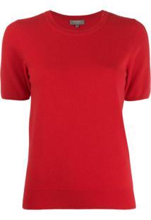 N.Peal Cashmere Short-Sleeved Top - Vermelho