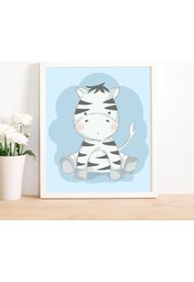 Quadro Decorativo Infantil Zebra Baby