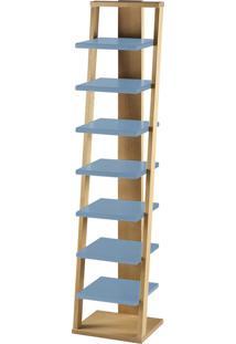 Prateleira Suspensa Stairway 1132 Palha/Azul Serenata - Maxima