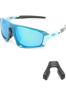 Óculos De Sol Oakley Field Jacket Azul/Verde