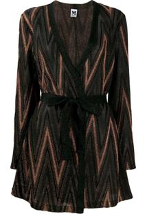M Missoni Cardigan Chevron - Marrom