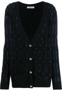 Blumarine Cardigan Texturizado - Azul