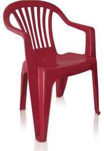 Kit 06 Cadeiras Poltrona Com Apoio Boa Vista Vinho Antares