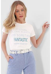 Camiseta Lez A Lez Fantastic Off-White/Azul