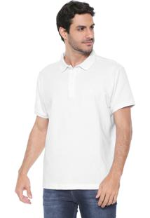 Camisa Polo Richards Reta Lisa Branca