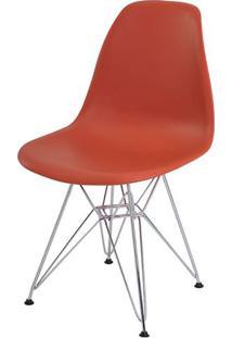 Cadeira Eames Eiffel Pp Laranja Telha Base Cromada - 34296 Sun House