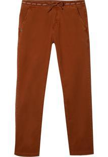 Calça John John Slim Campo Grande Sarja Laranja Masculina (Laranja Medio, 48)