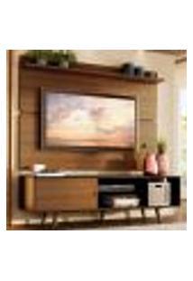 Rack Madesa Dubai E Painel Para Tv Até 65 Polegadas Com Pés - Preto/Rustic D85Z
