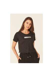 Camiseta Ecko Feminina Estampada Preta Mescla