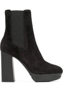 Hogan High Ankle Boots - Preto