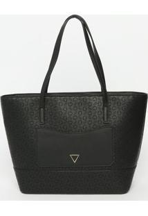 Bolsa Texturizada Com Recorte- Preta- 25X28X13,5Cm