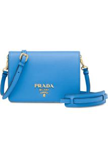 Prada Flap Shoulder Bag - Azul