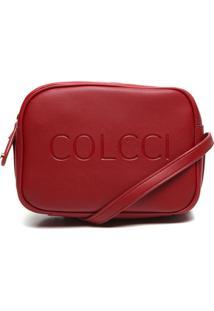 Bolsa Transversal Colcci Logo Vermelho