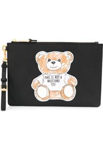 Moschino Clutch Toy Bear - Preto