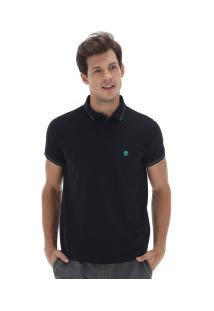 Camisa Polo Timberland 4 Stripes Super - Masculina - Preto