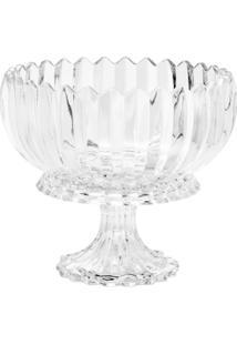 Fruteira De Cristal Com Pé Geneva 23,5X23,5X20Cm - 3,05Kg - Unissex