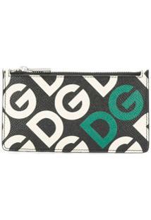 Dolce & Gabbana Porta-Moedas Com Estampa De Logo - Preto