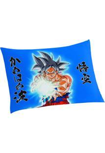 Fronha Dragon Ball®- Azul & Amarela- 50X70Cm- Lelepper