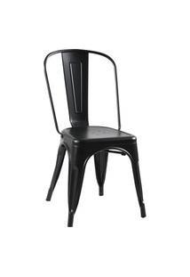 Cadeira Iron Preta Fosca Rivatti