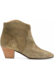 Isabel Marant Ankle Boot Dicker - Verde