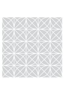 Papel De Parede Stickdecor Adesivo Geométrico Treliça Cinza 100Cm L X 300Cm A